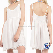 new york and miami wholesale clothing women summer white adjustable spaghetti straps crochet dress
