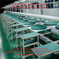 automatic assembly conveyor line for TV set LED television LCD TV assembly