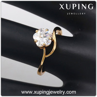 13843 Xuping fashion crystal plum blossom ring, fake gold rings jewelry elegant ring