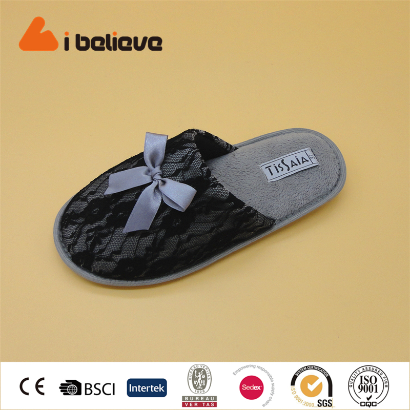 Lace fabric dresses for women elegant cheap wholesale indoor <strong>slipper</strong>