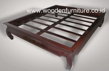 Teak Bed Opium Bed Solid Wood Bed Classic Bedroom Furniture Antique Reproduction Home Furniture