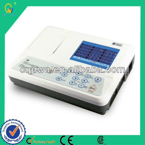 Examination Therapy Type Medical equipmen 3 Channel Accurate Pace Electrocardiograph ECG Machine