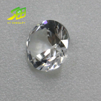 Glistening Synthetic 3mm round synthetiec White Corundum