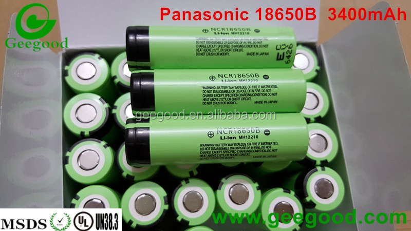 best quality high capacity 18650 3.7V 3400mAh NCR 18650B li ion rechargable battery