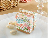 Wholesale Flower Party Rustic Paper Gift Box Favor Boxes Sweet box