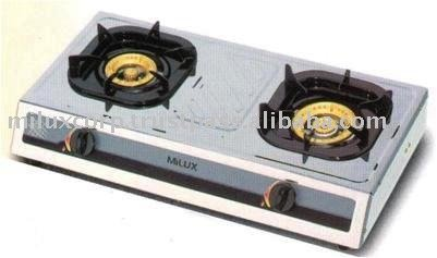 Milux Stainless Steel Double Burner Gas Cooker