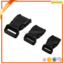 Curved plastic buckles for camera straps