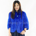 CX-G-A-69B Knitted Womens Hot Design Genuine Mink Fur Jacket