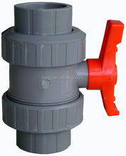 High Quality PVC True / Double Union Ball Valve Industrial / Water Supply