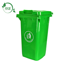 50L User-friendly advertising metal trash bin