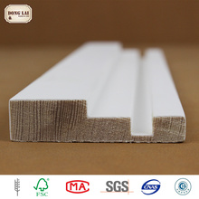OEM Waterproof Wooden white gesso primed finger Joint Skirting Baseboard Mouldings