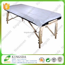 Kingsda High Quality Precut SPA Massage Fitted Disposable Nonwoven Bed Sheet