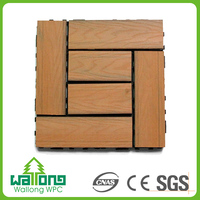Cost effective wood plastic composite waterproof and fireproof floor