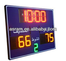 electronic lead basketball scoreboard,basketball scoreboard with time,wireless basketball shot clocks and controller