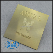 Cheap Price Handmade Butterfly Nameplate Metal Gold Crafts Customized Adhesive Engraved Aluminum Label