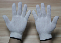 10 gauge natural white cotton knitted hand gloves cheap price