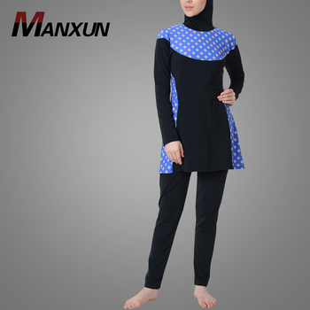 Online Selling Ethnic Diamond Print Swimwear Malaysia Swimsuit Modest Muslim Islamic Clothes