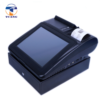 hot sell 12 inch quad core high integration pos system / pos terminal with bluetooth printer
