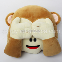 2016 High Quality Monkey Plush cushions with hand