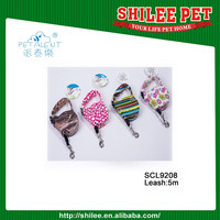 Wholesale Retractable Pet dog leashes with hydrographics transfer printing