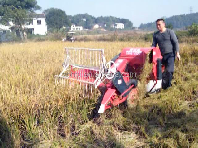 multi functional rice wheat paddy mini combine harvester