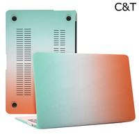 C&T Ombre Rainbow Crystal Protective Plastic Hard Case Cover for Apple Macbook Air 12 Inch