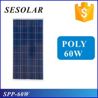 Frame aluminium solar panel 60w poly import from China