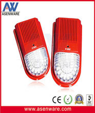 Red Flashing Outdoor Siren and Strobe Light