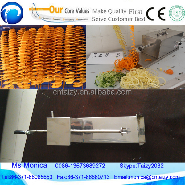 China professional potato on stick cutter/twist potato cutter machine