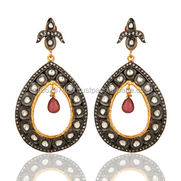 Favorites Hot Item Fashionable Trendy Earring, Trendy Crystal Silver Dangler Earring