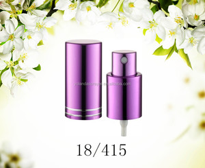 wholesale purple three pieces screw sprayer and perfume crimp sprayer for perfume bottle
