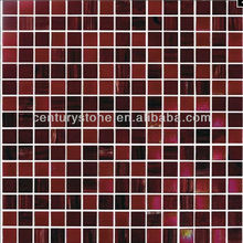 Iridescent Brown Swimming Pool Glass Mosaic Pool deck flooring tile