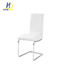 PU seat and back metal curved legs with chrome hotel cheap elegant chair