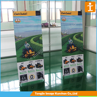 Outdoor horizontal x banner stand