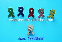 autism awareness pink ribbon pins