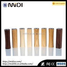 2016 Promotional gift mini wooden tube powerbank 2600mah for samsung galaxy