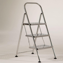 safety steel step ladder with handrail