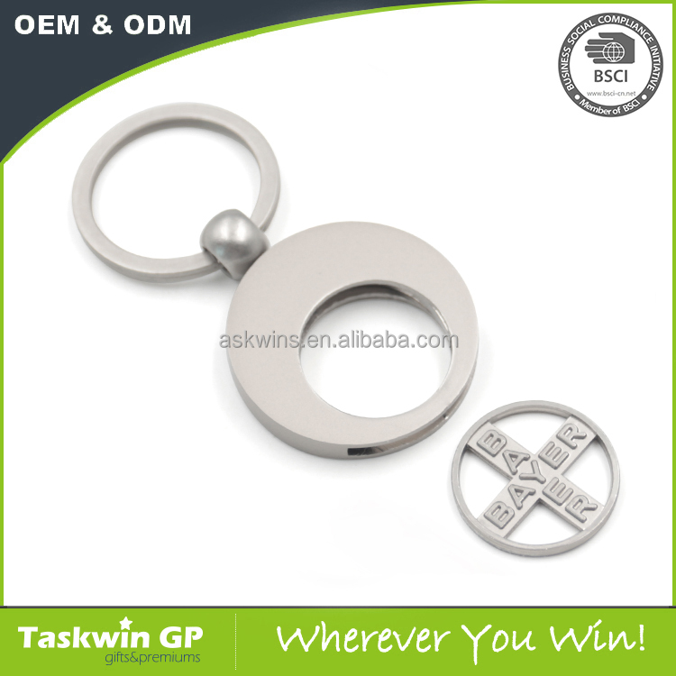 New products revolving coin holder with cut hole trolly coin