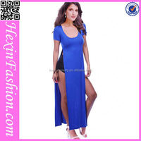 long maxi royal blue bodycon dress wholesale