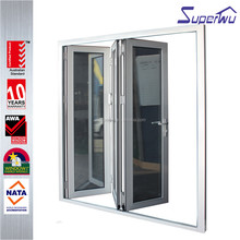 China supplier Shanghai Superwu aluminum interior glass material accordion door