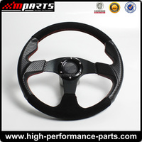 Universal 350MM Suede Steering Wheel for Racing Cars