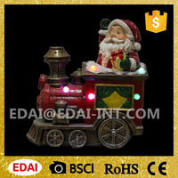 Indoor and outdoor lighted christmas train with santa and music