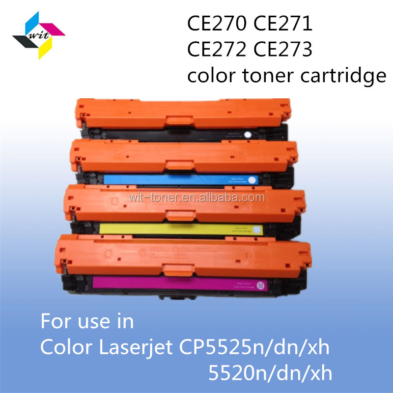 CE270 CE271 CE272 CE273 Toner Cartridge Compatible for hp CE270 CE271 CE272 CE273 used in for Color Laserjet CP5520n/dn/xh