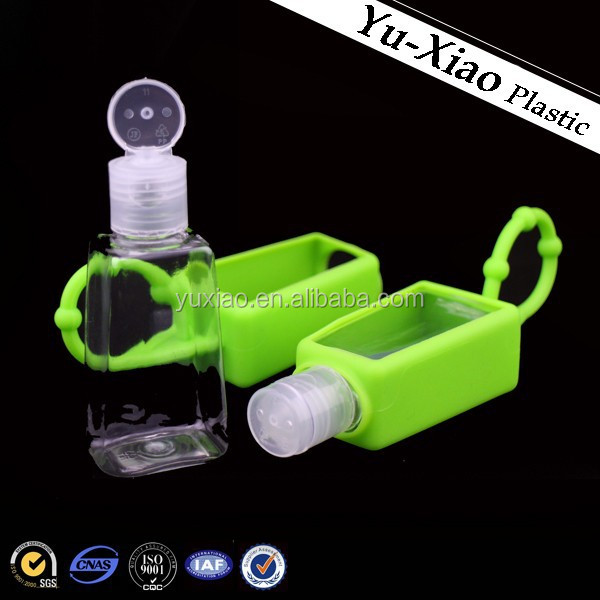 WK-90-1 Silicone Case with Pet Bottle/Promotional 30ml silicone bottle holder / 30ml hand sanitizer bottle