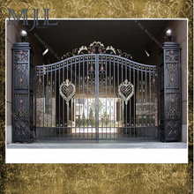 Luxury New Cheap Customized Size Used Wrought Iron Grill Door Gates Iron Main Gate Designs