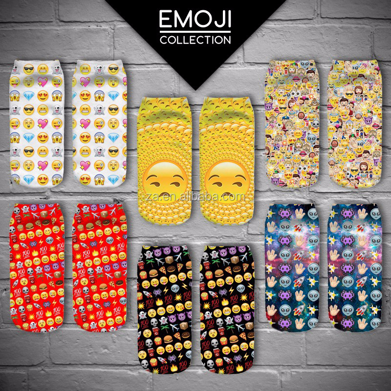 Custom Design OEM 360 whole printing Socks Wholesale Sublimiation Digital fullprint emoji custom bamboo sock