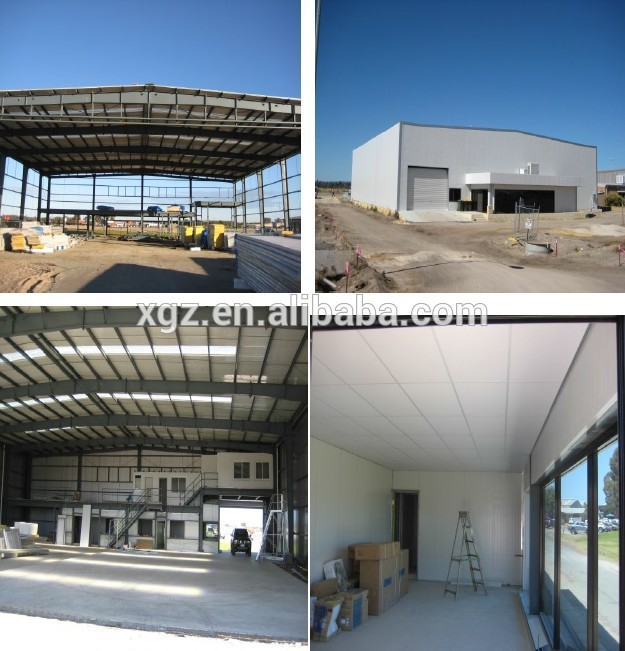 steel frame prefabricated aircraft shed