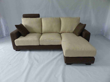 3 seater L shape with recliners fabric sofa