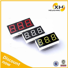 White Color Red Color FND Module 0.56 Inch Triple Numbers 3 Digit Voltage Meters LED Display