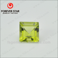 2GN04012A Wholesale Good Quality Square Shape Natural Peridot Stone